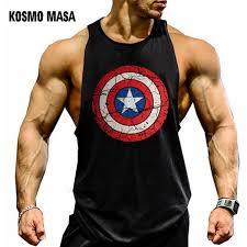 2019 <b>KOSMO MASA Skull</b> Mens Tank Tops Shirt Bodybuilding ...