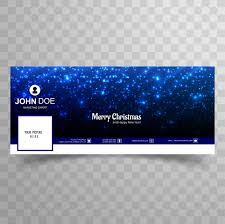 Merry christmas glitters shiny facebook banner template design ...