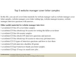 top 5 website manager cover letter samples in this file you can ref cover letter cover letter website