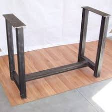 metal dining table base legs bennysbrackets: this is a custom built free standing steel table base suitable for holding the heaviest tops heavy wood slabs bowling alley lane material