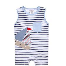 Summer Bebe Cotton Jumpsuits Sleeveless Newborn ... - Amazon.com