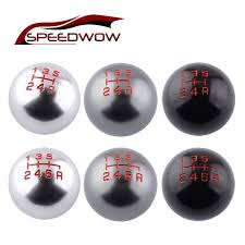 <b>SPEEDWOW</b> 5/6 Speed <b>Manual Gear Shift Knob</b> Ball M10x1.5 ...