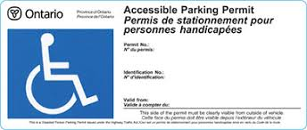 Image result for Photos of Accessible Parking Permits