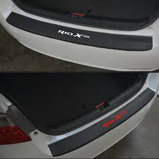 For Kia Rio x line PU leather <b>Carbon fiber Styling After</b> guard Rear ...