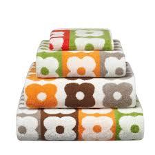 living room orla kiely multi: orla kiely multi flower stripe towel