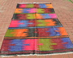 multi colored rug vintage kilim rug antique kilim rug boho rug bohemian rug bohemian furniture floor rug flatwoven rug kelim rug bohemian furniture