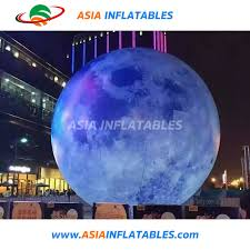 China 2m <b>Inflatable</b> Globe Printing <b>Balloon Inflatable Moon Ball</b> ...