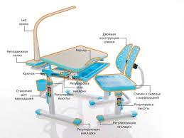 <b>Комплект</b> парта и стульчик <b>Mealux</b> EVO-05 (с лампой)