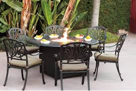 alumnium patio table with fire pit ideas and black iron patio chairs full size black iron outdoor furniture