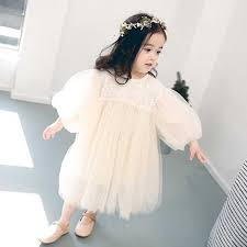 Spring <b>Summer</b> Kids Party Wedding Dresses For <b>Girls Puff</b> Sleeve ...