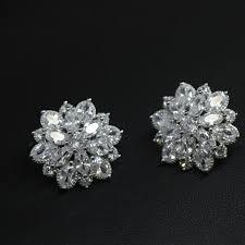 <b>Flyleaf 925 Sterling</b> Silver Aaa Zirconia Flowers Stud Earrings For ...