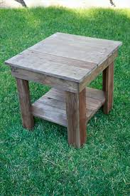 recovered pallet end table stain it with chalk paint or antique this more antique unique pallet ideas
