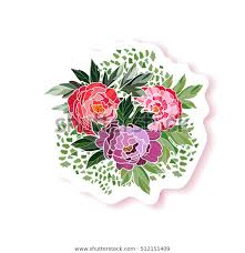 <b>Peony Bouquet</b> Background Peony <b>Fashion</b> Pin Stock Vector ...
