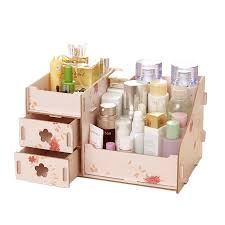 <b>New Wooden Storage Box</b> Jewelry Container Makeup Organizer ...