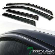 Topline Autopart Smoke Window Visors Deflector ... - Amazon.com