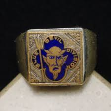 u s th infantry blue devils division ring white gold plated rings