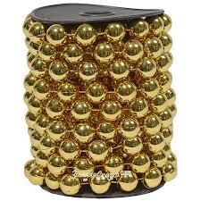 <b>Бусы</b> пластиковые Горошек XL 14 мм*5 м золотые, <b>Kaemingk</b>