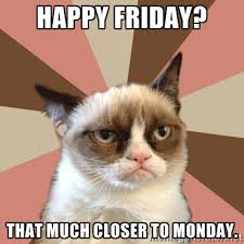 happy friday? that much closer to monday. - New Grumpy Cat | Meme ... via Relatably.com