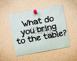 Image result for what do you bring to the table