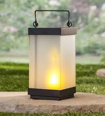 10 Inch FireGlow LED Frosted Glass and Metal ... - Illuminated Garden