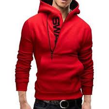 <b>IZZUMI</b> Pocket Front Long Sleeve Side Half-Zip Up Hoodie | <b>Mens</b> ...