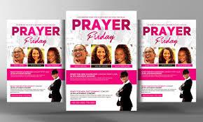 women of prayer church flyer flyer templates on creative market