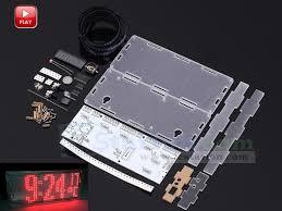 DIY <b>Kit</b> LED Dot Matrix Clock SMD <b>Kit</b> C51MCU w/ <b>Acrylic Shell</b> ...
