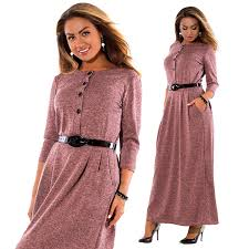 6XL <b>Plus Size Dress Women Autumn</b> Winter <b>Clothes</b> Cotton Office ...