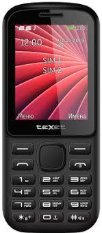 <b>Texet TM</b>-<b>218</b> (черный/красный) Мобильный <b>телефон</b> 2 SIM ...