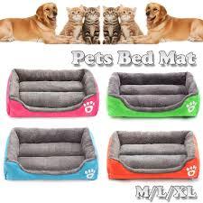 <b>Pet Bed Cushion</b> Mat Pad Dog Cat Kennel Crate Warm Cozy Soft ...