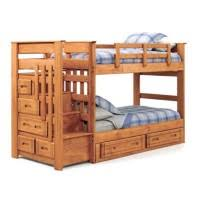 woody creek twin over twin bunk bed with stairs amazing twin bunk bed