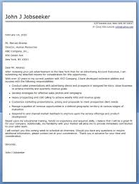 advertising account executive cover letter sample a cover letter is an advertisement