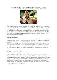 frankkernsuccessfulinternetmarketinglegend 140315224158 phpapp01 thumbnail 4 jpg cb 1394923384