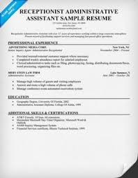 administrative assistant resume template for download   free     receptionist administrative assistant resume help  resumecompanion com