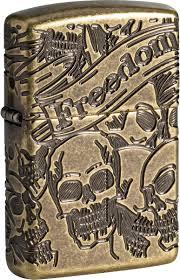 <b>Зажигалка бензиновая</b> Zippo <b>Armor</b>, 49035, с покрытием Antique ...