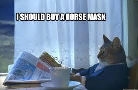 One-Percent-Cat-Horse-Mask.png via Relatably.com