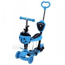 <b>Самокат Shantou City Daxiang</b> Plastic Toys XK-M06BLUE
