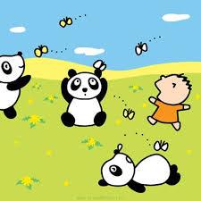#Tabo with <b>panda friends</b> enjoying the <b>fine</b> weather!   Kitty, Sanrio ...