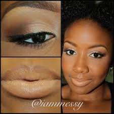 iammessy natural makeup for dark skin love this look