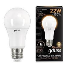 102502122 <b>Лампа Gauss LED A70</b> E27 22W 3000K