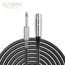<b>NAOMI</b> XLR 3 Pin Plug to 6.35mm 1/<b>4</b> inch Male Mono Jack Plug ...