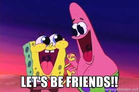 Image result for let's be friends