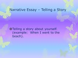 my essay terms your name narrative essay  telling a story  narrative essay  telling a story  telling a story about yourself example