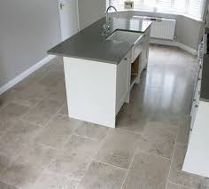 limestone tiles kitchen: limestone floor tiles unique and stylish flooring in your home a small kitchen with grey limestone floor tiles