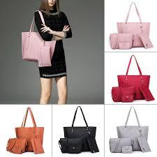 <b>4PCS</b>/Set <b>Women Handbag</b> Shoulder Crossbody <b>Bag</b> Messenger ...