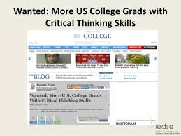 Bing  Critical thinking teaching guide SlideShare