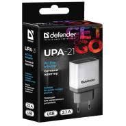 <b>Зарядное устройство Defender UPA-21</b> [5V/2,1A] 1-порт USB White
