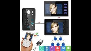<b>YobangSecurity Video Intercom</b> 2x 7 Inch Monitor Wifi Wireless ...