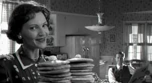 a postmodern case study pleasantville cinema and society balanced breakfast a pancake in each hand