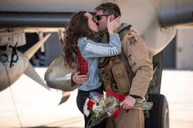 Air Force girlfriend wears BRRT jacket at <b>A10</b> homecoming